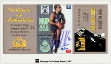 1994 Dynamic AFL Sensation MVP Acetate Signature Card CC4 Greg Williams(Carlton)
