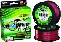 NEW! Power Pro Spectra Fiber Braided Fishing Line, Vermilion Red, 3 21100500300V