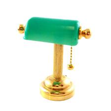 Dolls House Miniature Lighting LED Battery Light Green Desk Lamp