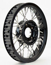 "Evolution custom spoke wire pulley Harley 1.125"" belt 65 tooth Black"