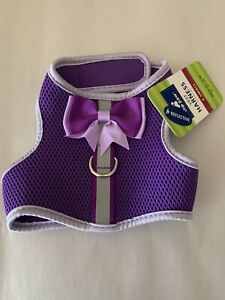 Purple Top Paw Dog Puppy Harness with Bow XS Adorable!