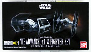Bandai Star Wars Vehicle Model 007 Tie Advanced x1 & Fighter Set kit 145028