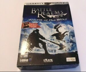 Battle Realms Base Game & Winter Of The Wolf Expansion PC CD ROM World Post!
