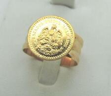 Dos Y Medio Gold Pesos 22K Gold Coin Ring 10k Rose Shank 5.5 Grams Size 10.5