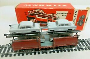 Märklin 4613 H0 Car Carrying Wagon With 4 Ford 12 M Globe Boxed From 01/58