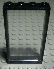 Lego Fenster 1x4x6 Schwarz mit Transparenter Scheibe                       (559)