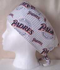 Surgical Scrub Hat Cap Made w San Diego Padres Mlb Fabric Nurse Skull Er Chemo