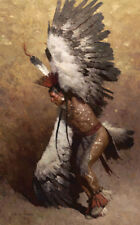 """Eagle Dancer Potawatomi"" Z. S. Liang Masterwork Canvas"