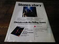 ROLLING STONES - Publicité de magazine / Advert !!! STONES STORY !!!