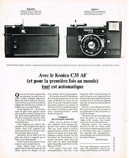PUBLICITE ADVERTISING 054  1980  KONICA C35 AF   appareil photo