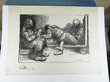 HIS LIFE THE REPOS LITHOGRAPHY ORIGINAL ON JAPANESE CONTRESIGNEE WW1 circa. 1915