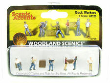 Woodland Scenics A2123 N DOCK WORKERS FIGURES Train Scenery People Men New I