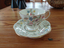 Foley ~Hand Painted Floral/Flowers Bone China DEMITASSE Tea Cup & Saucer ENGLAND
