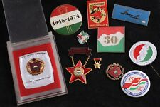 Lot 11 Hungary Hungarian Badge Medal Communist Excellent Worker Sport Brigade