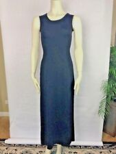Cosabella Women Small Black Stretch Scoop Neck Sleeveless Faux Wrap Maxi Dress U