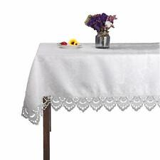 "White Rectangle Lace tablecloths for Wedding Party Home and Kitchen 33""x59"