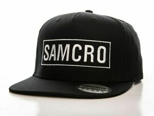 Official SAMCRO logo text SOA Snapback Cap Embroidery Adjustable One Size