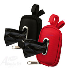 Trixie Dog Dirt Bag Dispenser With Polyester Cover 1 Roll of 20 Bags 2 Colours Red 22849