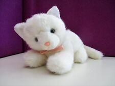 peluche chat blanc HAPPY HORSE vintage