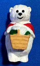 """Hallmark """"Christmas Mama Polar Bear With Basket"""" Merry Miniature 1990"""