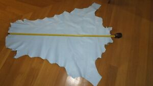 POWDER BLUE chrome tan Kangaroo leather 1.3 x 1.2 meter upholstery clothes chaps