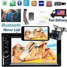 6.2'' HD Bluetooth Car Stereo Audio Video USB MP3/MP4 Radio Player + LED Camera