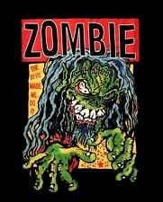 ROB ZOMBIE cd lgo DEVIL MADE ME DO IT Official SHIRT LRG New white zombie