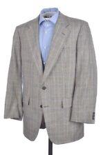 CHESTER BARRIE Gray Plaid Check SILK WOOL Mens Blazer Sport Coat Jacket - 42 L