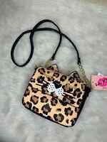 Betsey Johnson Luv Betsey Leopard Cat Meoww Crossbody Purse | NWT
