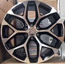 "22"" GMC Yukon Denali Style Wheels Black Mch Rims Sierra Tahoe Suburban LTZ 24"