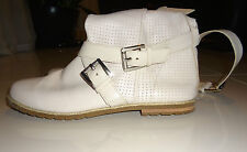 Michael Kors Women's Soft White Leather Strap Boots Size 9 Rare
