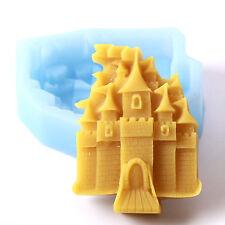 Castillo De Princesas De Silicona Jabones Molde r0192 libre de envío