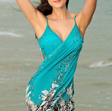 bikini swimwear aqua turquoise floral beachwear cover up