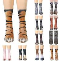 Adult Unisex Animal Paw Crew Sock Sublimated Print Sock Short Sock w.~,
