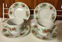CHRISTOPHER STUART BERRY ORCHARD FLAT CUP AND SAUCER SET. RARE DISCONTINUED.