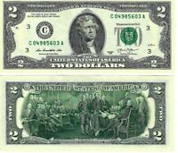 "*** 2013 $2 TWO DOLLAR BILL ( Philadelphia ""C"" ) UNCIRCULATED ***"
