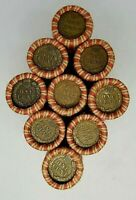 Indian Head DOUBLE ENDER Wheat Penny Rolls Unsearched Old Cents Pennies P D S