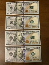 2-Star Notes 2009 Unc ,One Hundred Dollar Bill'S in Sequence