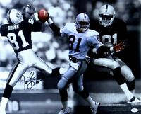 Tim Brown Signed Autographed 16X20 Photo Raiders Catch Collage JSA