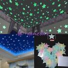 100pcs Home Wall Glow In The Dark Stars Stickers Decal Baby Kids Nursery Room JJ