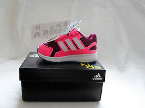 INFANTS ADIDAS LK SPORT TRAINERS PINK/D RED