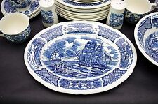 "(1) Meakin FAIR WINDS 12 1/2"" Platter Historical Scenes of Chinese Export"