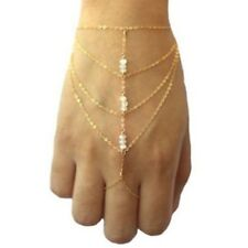 Harness Hand Chain Tassel Multilayer Bracelet Bangle Finger Ring S4Q1