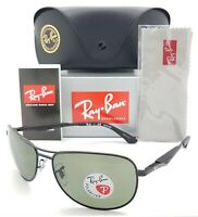 NEW Rayban Sunglasses RB3519 006/9A 59mm Black Grey Polarized AUTHENTIC 3519