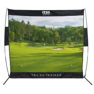 New IZZO Golf Tru Vu Trainer Links Course Hitting Practice Range Net