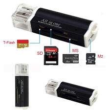 Pro Micro SD SDHC TF M2 MMC MS PRO DUO All in 1 USB 2.0 Multi Memory Card Reader