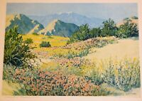 Carl Sammons, signed color gravure, 9 x 13