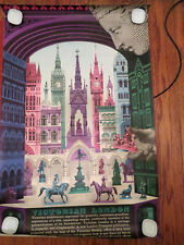 Vintage Victorian London David Gentleman Travel Poster