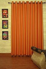 "Orange Flame Faux Silk Curtains, 51"" (130 cm) Wide, Chose Top, Length & Lining"