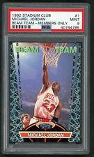 Michael Jordan 1992 Stadium Club Beam Team Members Only Basketball Card #1 PSA 9